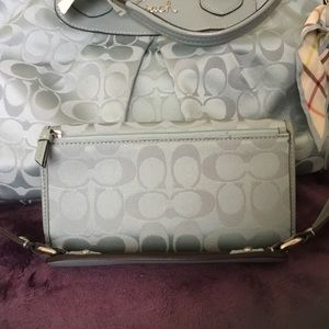 Coach Ashley Sateen & Leather Full Size Wallet NWT